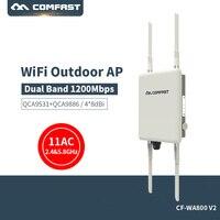 Comfast Открытый Wi Fi ретранслятор 2,4 г + 5 ГГц Беспроводной Wi Fi AP маршрутизатор с Мощность усилитель 27dBm Wi Fi маршрутизатор высокого мощность Wi Fi