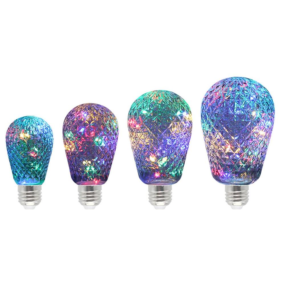 Holiday Decorative Light E27 RGB Lamp Home Night Bulb LED Copper Bulb Magic Colorful Lighting Christmas New Year Fairy 85-265V