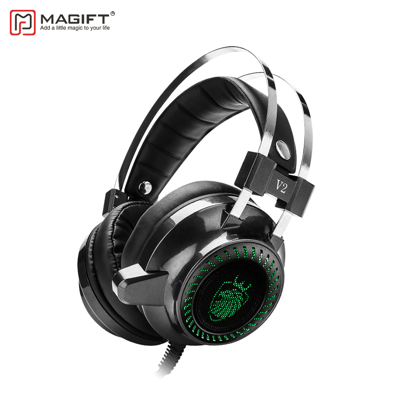 MagiftV2 Professional Gaming Headset Virtual 7.1 Channel USB Stereo Headphone With Mic Voice Control For Computer Gamer
