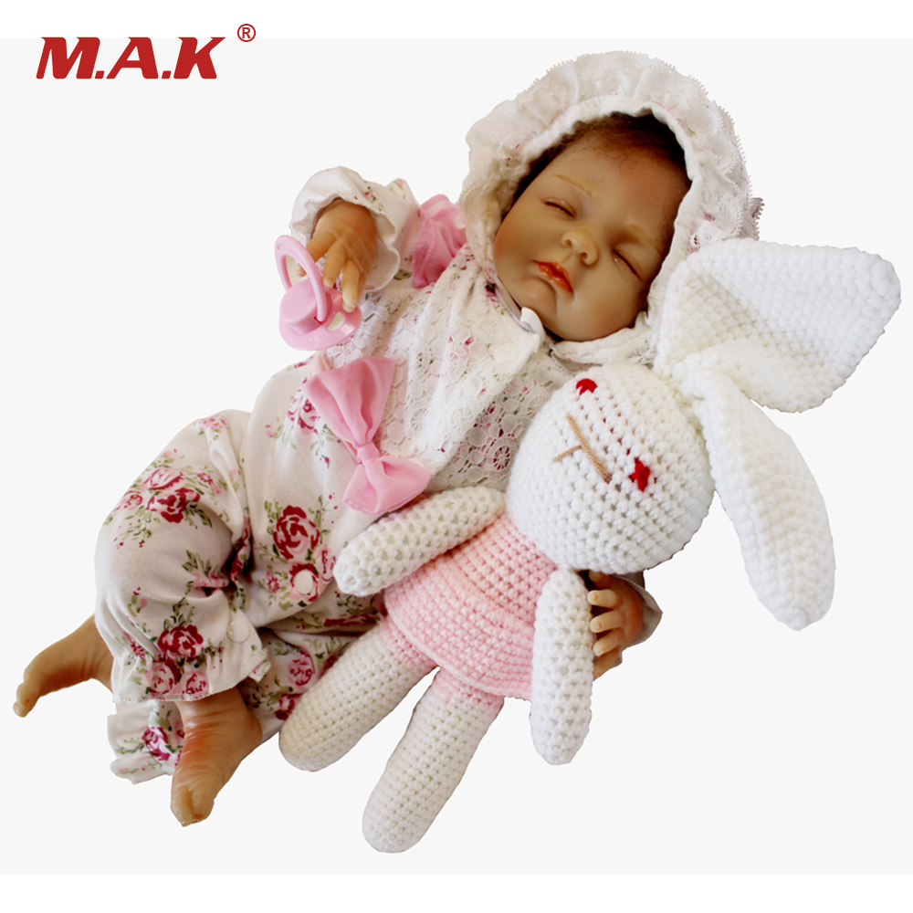 18 inches Reborn Sleeping Menina Doll New born Lifelike Bebe Dolls Silicone Vinyl Toddler Toys for Children Girls Gift