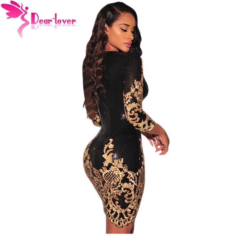 Cienījamie mīļākie kleitas kleitas puse melnā zelta / sudraba - Sieviešu apģērbs - Foto 2