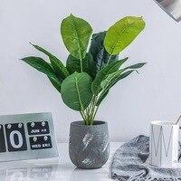 Artificial Plant Bonsai Green Leaf DIY Home Office Christmas Decoration TV Cabinet Decoration Fake Flower Craft Wedding Flower