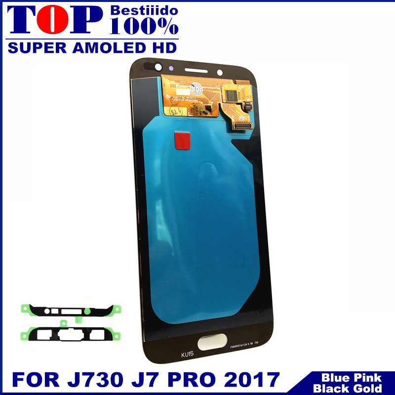 Lcds Lcd-Display Digitizer Touch-Screen Brightness-Control J730 Super-Amoled Samsung Galaxy