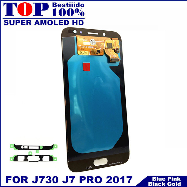 Super AMOLED LCDs For Samsung Galaxy J7 Pro 2017 J730 J730F LCD Display with Touch Screen Digitizer Assembly Brightness Control