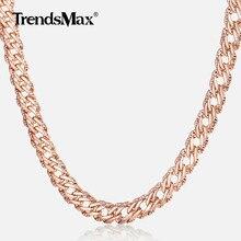 dc738b6018e2 Trendsmax collares para Mujeres Hombres 585 collar de cadena de eslabones  Venitian oro rosa 45 cm 55 cm 60 cm a la moda joyería .