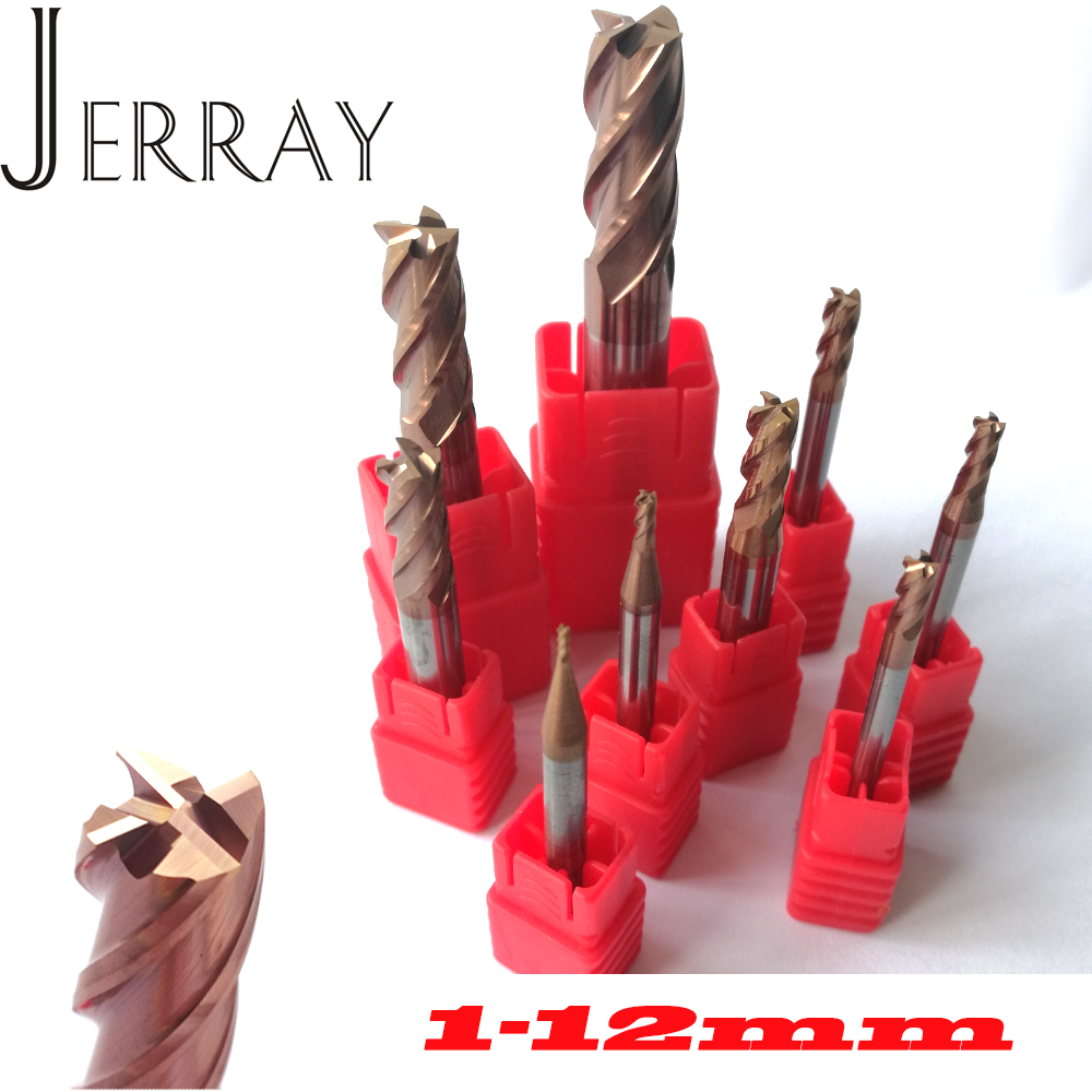 1mm 2mm 3mm 4mm 5mm 6mm 8mm 10mm 12mm 4 Flutes HRC55 Tungsten Carbide Square Flat End Mills Spiral Bits CNC Endmill Router Bits long tool life 4 flutes milling tools roughing end mill cutter rough cutter 3mm 4mm 6mm 8mm 10mm 12mm 14mm 16mm cnc router bits