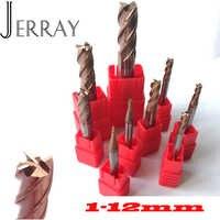 1mm 2mm 3mm 4mm 5mm 6mm 8mm 10mm 12mm 4 Flöten HRC55 Hartmetall Platz Flache Schaftfräser Spiral Bits CNC Schaftfräser Fräser