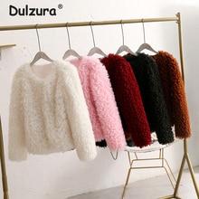 9 Colors Plus Size XXXL Pink Curly Lamb Fur Coat Women High Street Fashion V Neck Faux Fur Coats Jackets Winter Warm Outerwear