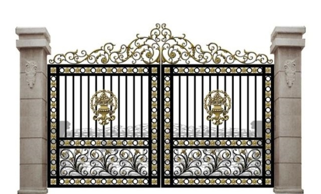 US $500 0 |aluminium gates driveway gates wrought iron gates forged iron  gates hench 23-in Gates from Home Improvement on Aliexpress com | Alibaba