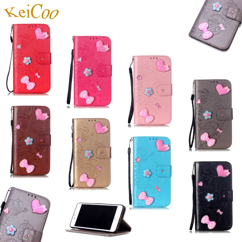 Cute Bling Rhinestones PU Leather Phone Cases For Moto G G3 Turbo Edition XT1557 Book Flip Covers Turbo Edition TPU Full Housing