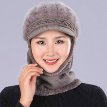 RUHAO Winter Knitted Hat Beanie Lady Scarf Skullies Beanies Hats For Women Caps Gorras Bonnet Mask Brand 2019