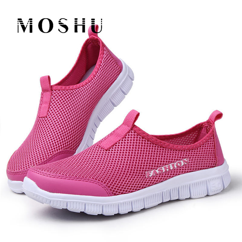 Summer Air Mesh Sneakers Women Casual Lightweight Shoes Trainers Slip on Breathable Shoes Creepers Chaussure Femme male lightweight breathable mesh slip on shoes