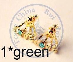Stud Earrings ear rings Fashion for women Girls lady love cystal rhinestone design CN post