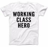 الطبقة العاملة بطل يرتديها جون لينون تي 100% قسط القطن الناس مضحك تي شيرت New2017 أكثر حجم و Colors-A787