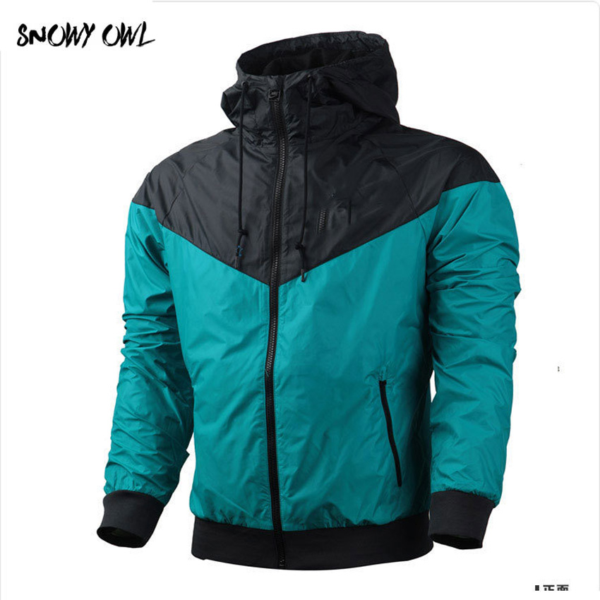 Men running jacket waterproof jacket Sports fitness Long sleeves Hooded Gym Outdoor training Run Jogging Jackets clothes h75 vogue pu leather spliced color block hooded long sleeves hoodie for men