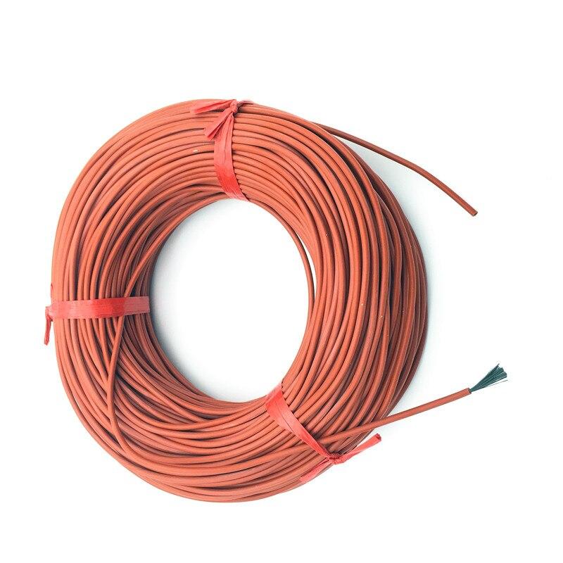 10 M 12 K 33ohm/m Infrarood Verwarming Vloerverwarming Ther Kabel Systeem Van 3mm Silicagel Carbon Fiber Draad Gebruikt In 220 V Spanning 150 W
