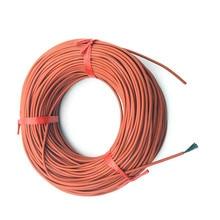 10M 33 12K ohm/M calefacción infrarroja suelo calefacción Ther Cable sistema de 3mm Gel de sílice Alambre de fibra de carbono utilizado en 220v voltaje 150w