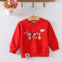 Audel/Хлопковые футболки с длинными рукавами и круглым вырезом с принтом с героями мультфильмов для маленьких детей, G190