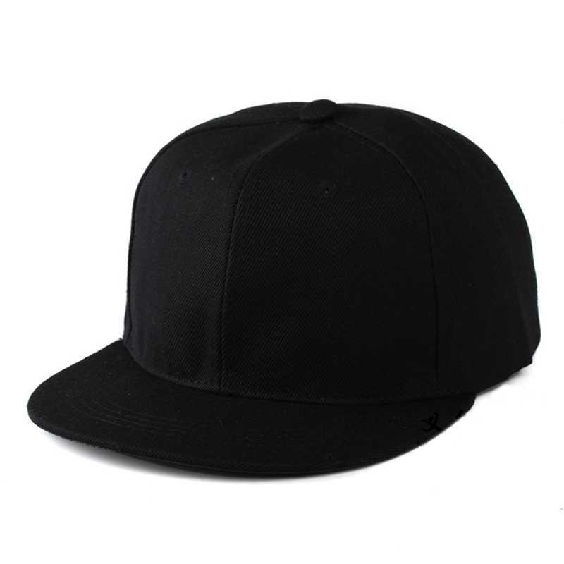 卸売ヒップホップフラットキャップ大人の固体カラーパッチ適用野球帽子女性と男性ロゴカスタム無地スナップバックキャップ