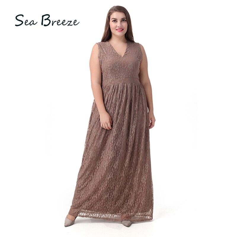 Sea Breeze Brand Summer Large Size Women Full Lace Print