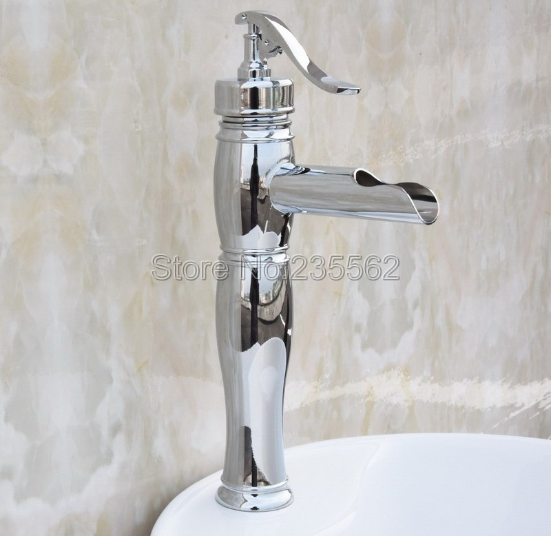 Chrome Finish Brass Bathroom Basin Faucet Deck Mounted Cold and Hot Mixer Vessel Sink Faucets lcy022Chrome Finish Brass Bathroom Basin Faucet Deck Mounted Cold and Hot Mixer Vessel Sink Faucets lcy022