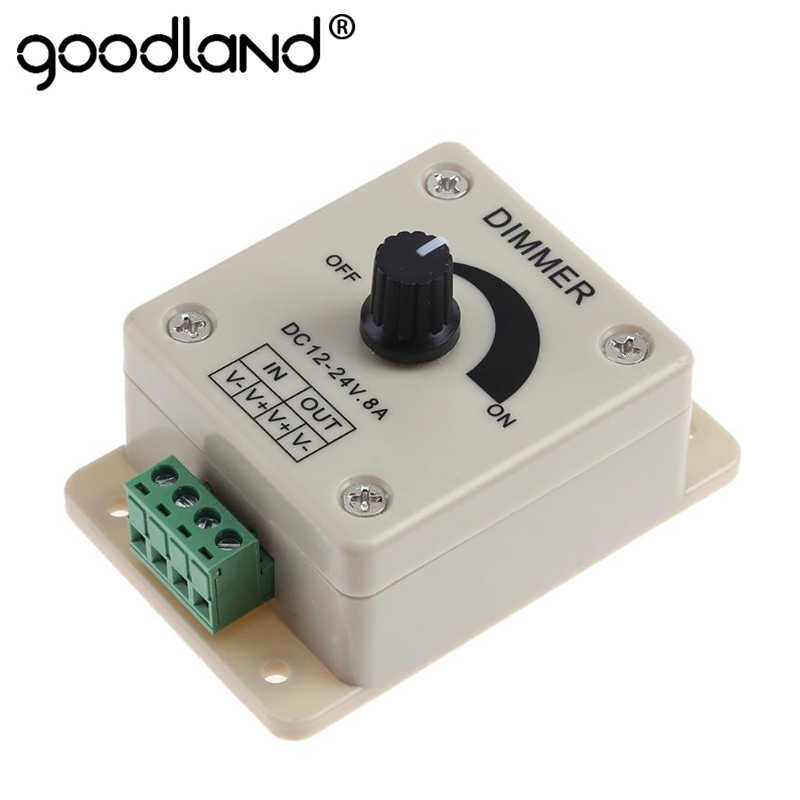 12V 24V LED Dimmer Switch 8A Voltage Regulator Adjustable Controller for LED Strip Light Lamp