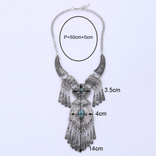 LOVBEAFAS 2018 Fashion Bohemian Choker Collar Necklace Vintage Tassel Statement Maxi Long Necklace Women Collier Femme Jewelry