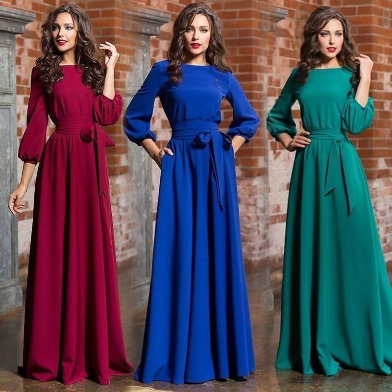 Discount Designer Evening Dresses: Vestidos De Festa Elegant Autumn Winter Evening Dresses