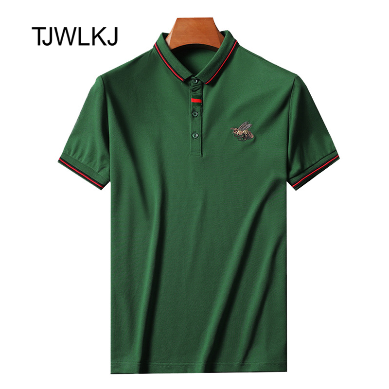 Polo Shirt Men Fashion High Quality Polo Shirt 2019 Short Sleeve Embroidery Breathable Business Tommy Polo Shirt TJWLKJ