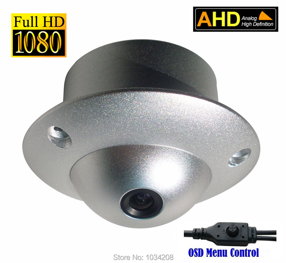 AHD-H 1080P Mini Flying Camera Saucer UFO AHD Camera Dome Indoor Wired Security Surveillance CCTV  Elevator Camera Metal OSD