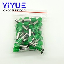 цена на E6012 Tube insulating terminals 6.0MM2 100PCS/Pack Insulated Cable Wire Connector Insulating Crimp Terminal Connector E