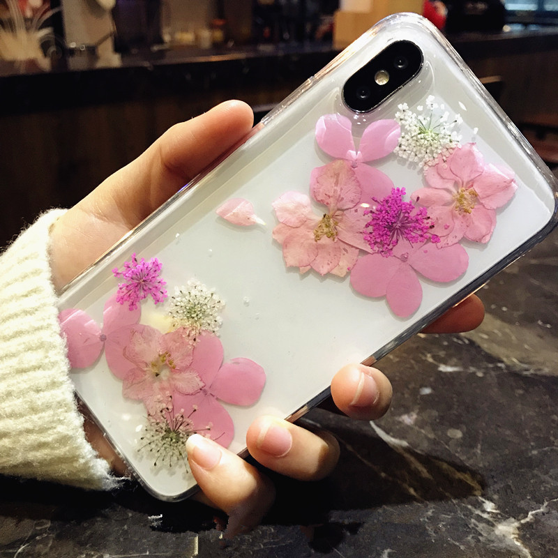 Luckywang For Iphone 7 Case flower Silica Gel Protect Woman New Favourite New For Iphone 7 Plus Case Mobile Phone Bags Cases