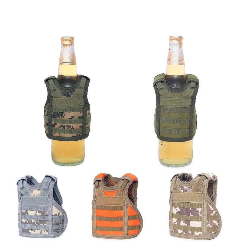 7 цветов Molle Tactical мини-жилет пивная бутылка набор военный охотничий жилет регулируемый плечевой ремень для напитков бутылка украшения набор