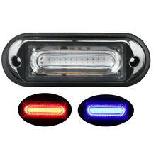 цена 1 Pcs 3W Car COB Grill Light LED Strobe Warning Light 12V 24V Flashing Lamp Red Blue