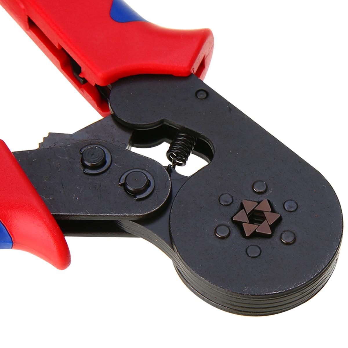 Six Mandrel Ratchet Ferrule Crimper Plier HSC8 6-6 Crimp AWG23-10 Wire Connector