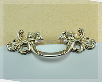 Free Shipping Hole Spacing 3 Europe Classicality Pulls Zinc Alloy Antique Silver Drawer Cabinet Wardrobe Handles