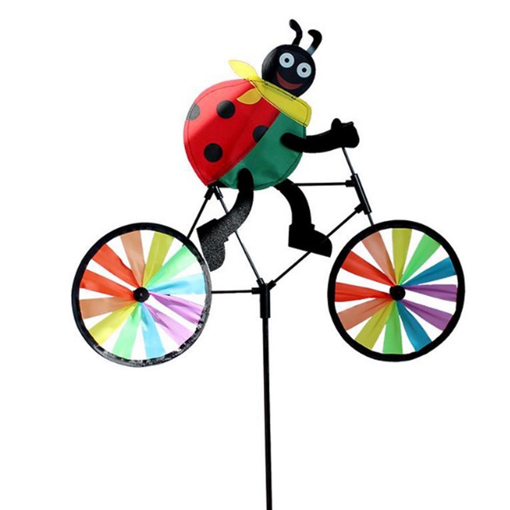 Цвет случайный ветер Спиннер насекомое Whirligig сад 3D Декор открытый газон вертушка прекрасный двор мельница пластиковая игрушка