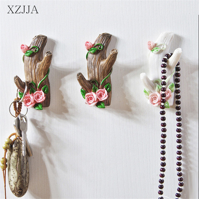 XZJJA 1PC Tree Modelling Creative Hooks Kitchen Wall Door Hanger