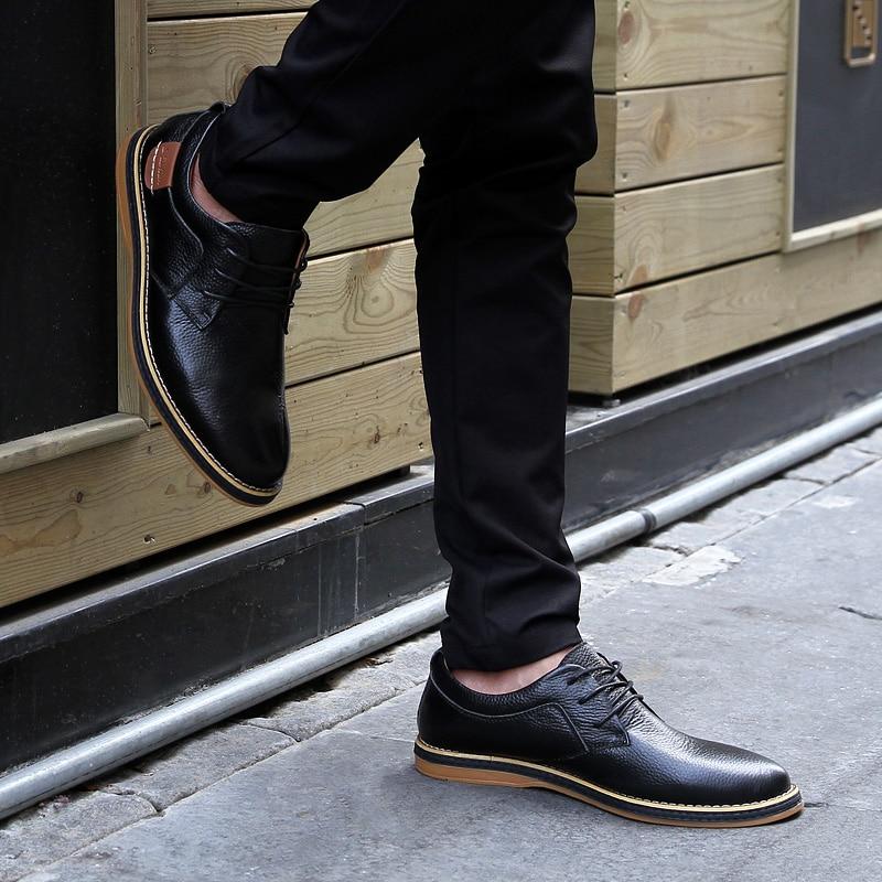 HTB1BXT4c3mH3KVjSZKzq6z2OXXaz 2019 New Men Oxford Genuine Leather Dress Shoes Brogue Lace Up Flats Male Casual Shoes Footwear Loafers Men Big Size 39-48