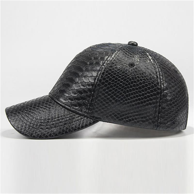 3pcs lot Cool Mens Snakeskin Leather Baseball Hats for Spring Fall Winter  Wholesale Men Black Ball Caps Strap Back Baseball Hat-in Baseball Caps from  ... 9470050874f