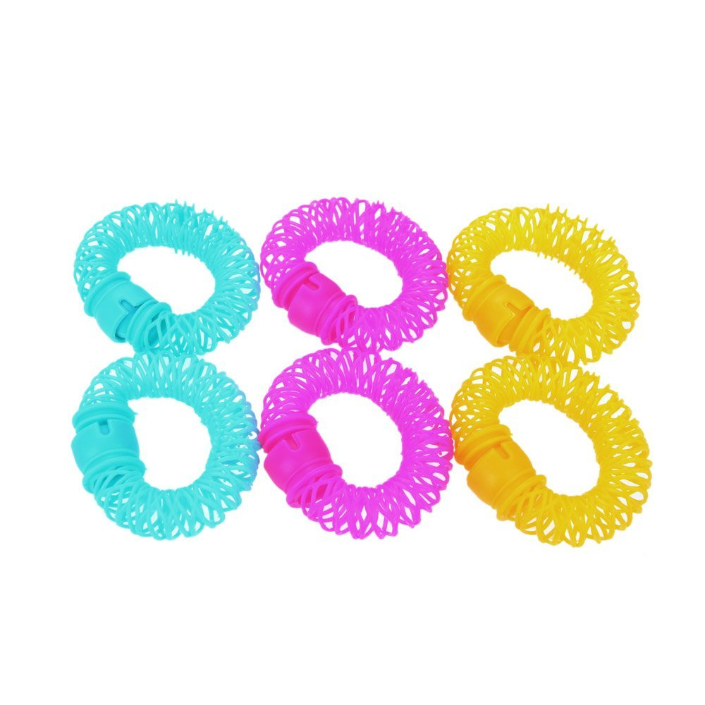 HTHL Wholesale 5* 6pcs Lucky Donuts Curly Hair Curls Roller Hair Styling Tools Hair Accessories Magic Spiral Ringlets Circles L