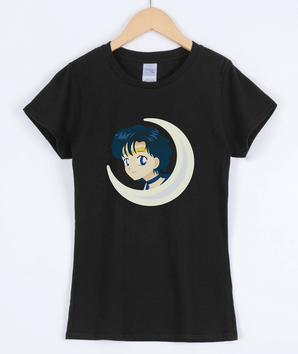 New Hot Sailor Moon Cartoon Print 2019 Women's T-shirts Japan Anime Kawaii Cotton Female T-shirt Brand Clothing Cute Shirt Top