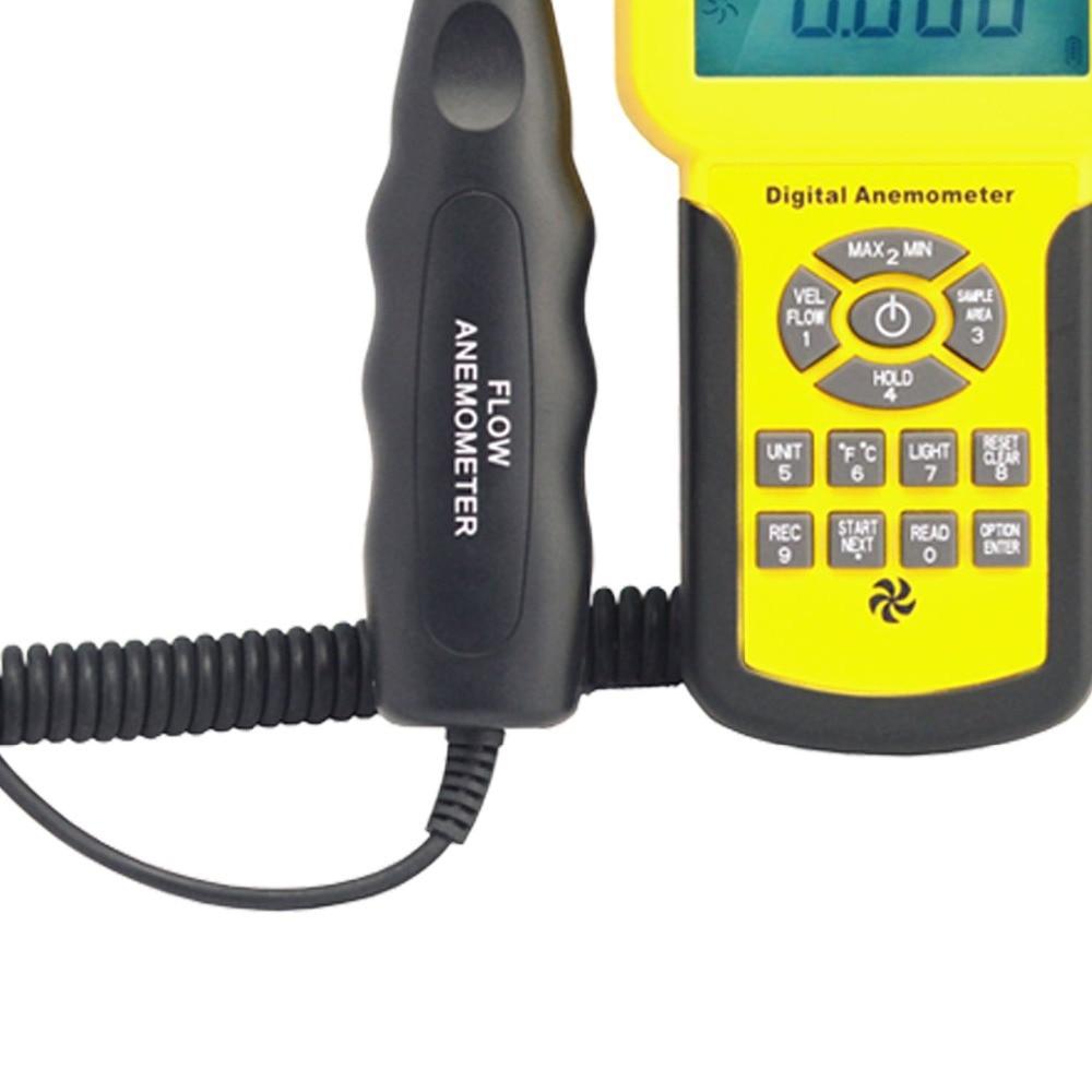 HoldPeak HP-856A digitális szélsebességű légmennyiségmérő - Mérőműszerek - Fénykép 3