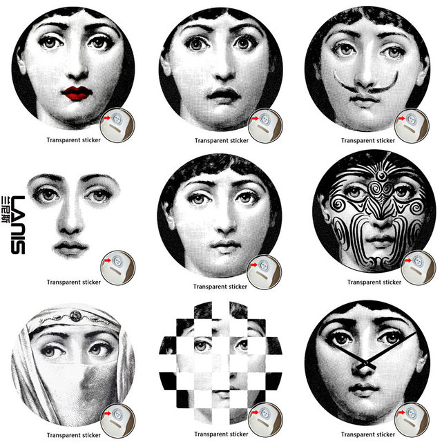 NO29 56 Designer Fornasetti Wallpaper The Same As Transparent Stickers Wall For
