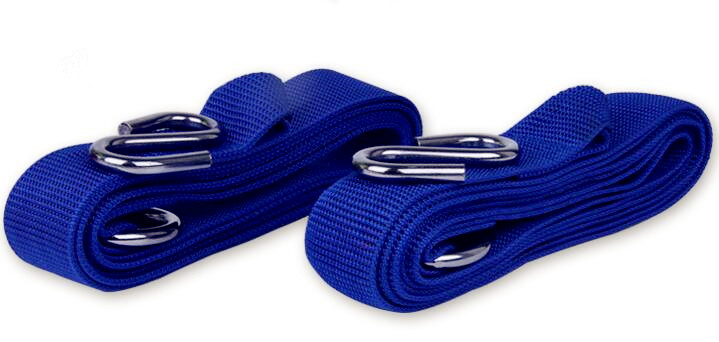2018 Outdoor Hammock Special Widened Nylon Tie Rope With Steel Ring Hang Buckle Strap 2pcs/pair With Storage Bag