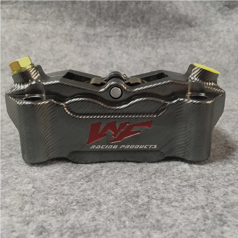 CNC Front Brake Caliper with 4 Piston 100mm Crabs Abalone RIGS caliper brake rear brake caliper brake pump under the motorcycle