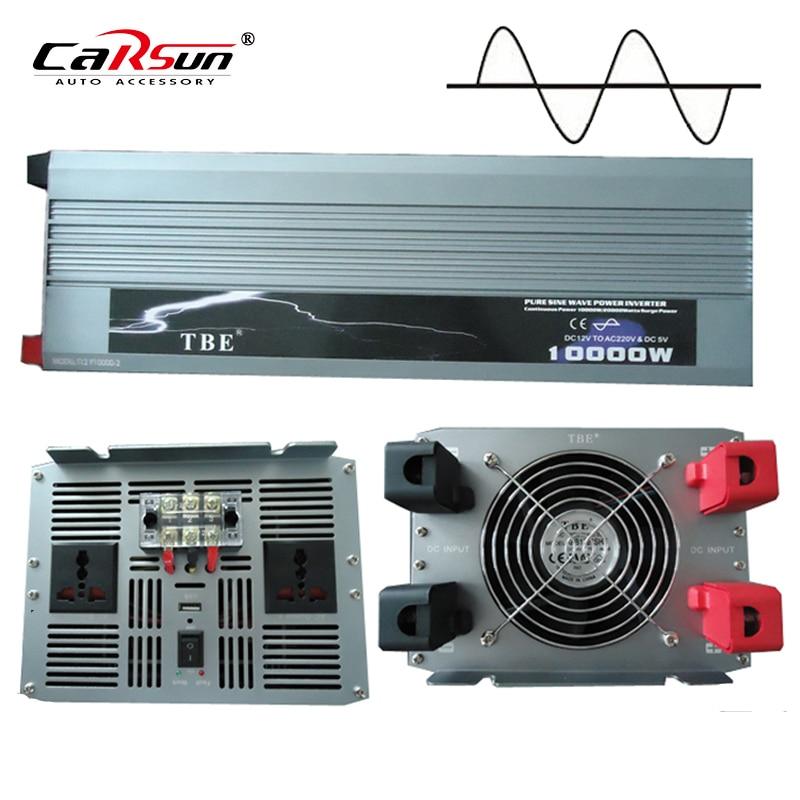 10000W Onda Sinusoidale Pura Solar Power Inverter Dc 12 V 24 V 48 V a 220 V Ac 110 V Converter Adapter con Il Caricatore Usb Potenza di Picco 20000W