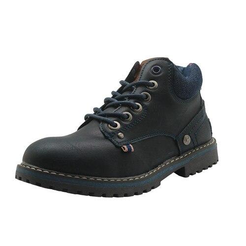 Apakowa Herbst Winter Kinder Schuhe Pu Leder Jungen Stiefel mit Arch Unterstützung Knöchel kinder Martin Stiefel für Kleine Jungen EUR 31-36