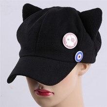 Negro sólido Casual deporte sombreros de alta calidad Cosplay sombrero  hombres mujeres Unisex de Anime de dibujos animados lindo. c76e0c40906