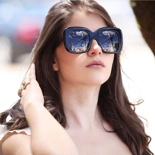 320c52785df Vazrobe Oversized Women s Sunglasses Thick PC Square Sun Glasses for Ladies  Large Quality Shades Vintage Clear